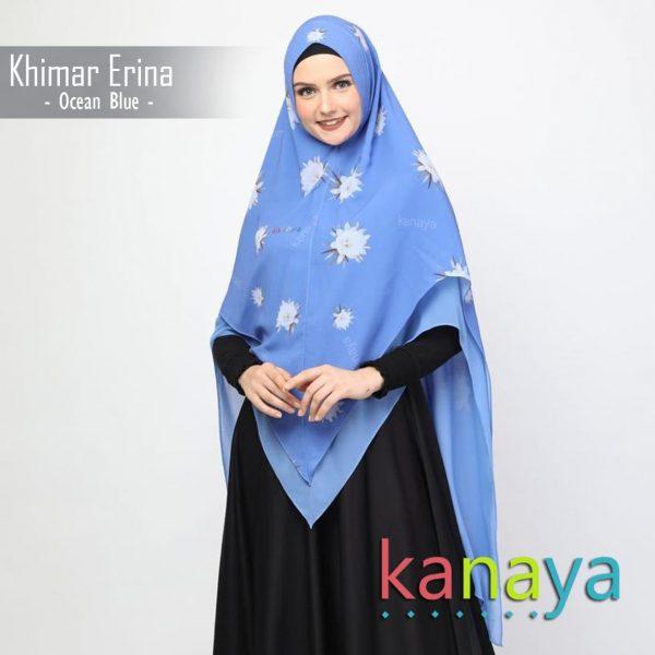 Kanaya Khimar Erina Ocean Blue-ahzanimuslimstore
