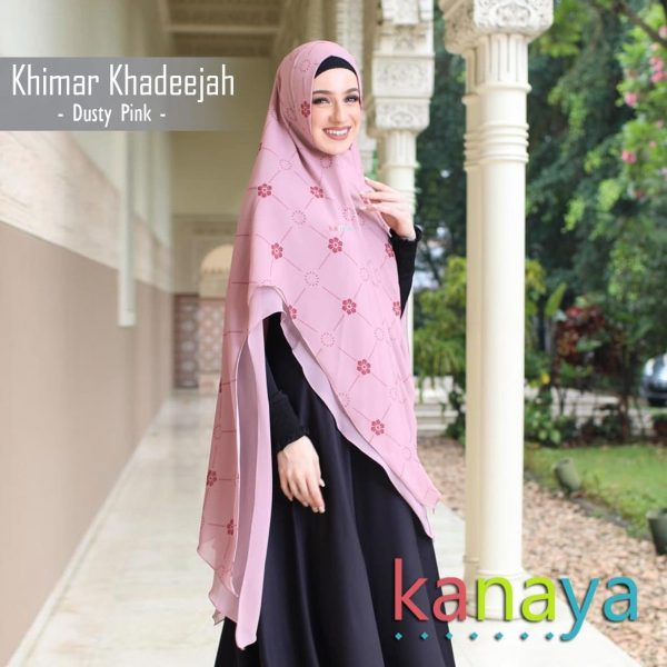 Kanaya Khimar Khadeejah Dusty Pink-ahzanimuslimstore