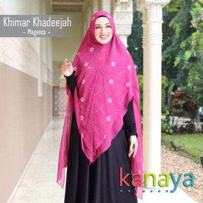 Kanaya Khimar Khadeejah Magenta-ahzanimuslimstore