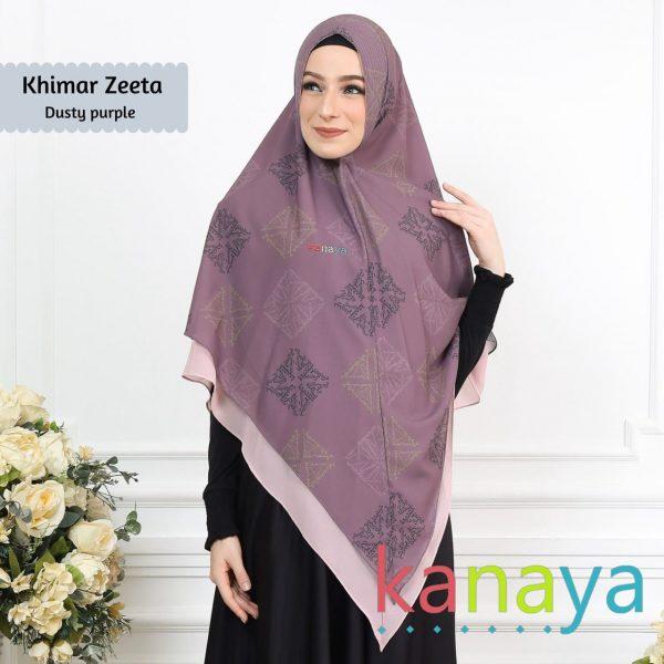 Kanaya Khimar Zeeta Dusty Purple-ahzanimuslimstore