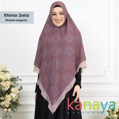 Kanaya Khimar Zeeta Washed Magenta-ahzanimuslimstore
