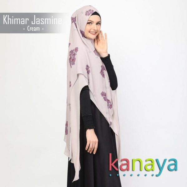 Khanaya Khimar Jasmine Cream-ahzanimuslimstore