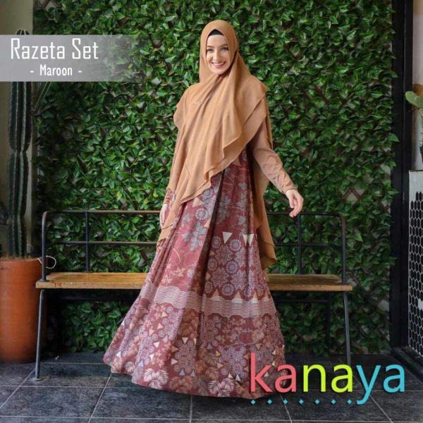 kanaya boutique gamis printing razeta