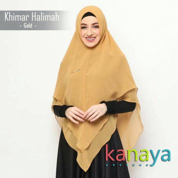 kanaya khimar halimah gold-ahzanimuslimstore