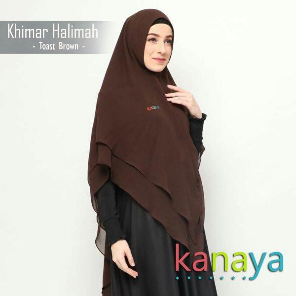 kanaya khimar halimah toast brown-ahzanimuslimstore