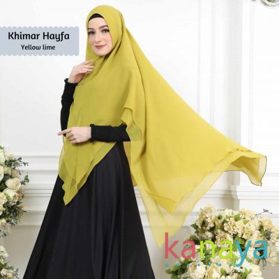 kanaya boutique khimar hayfa yellowlime-ahzanimuslimstore