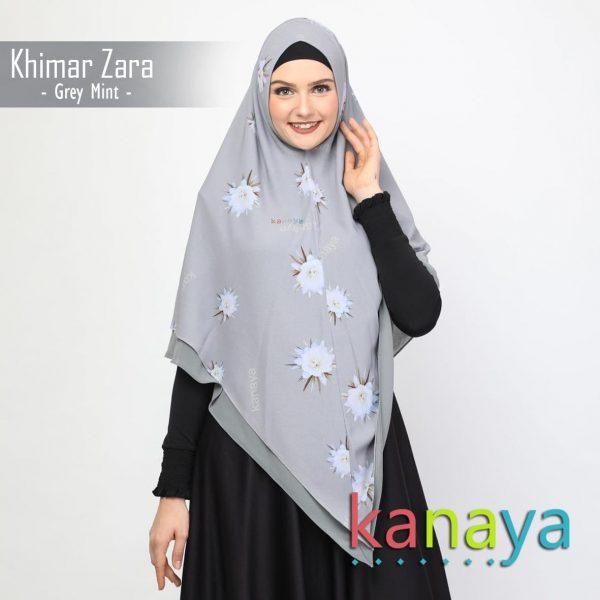 kanaya khimar zara greymint-ahzanimuslimstore