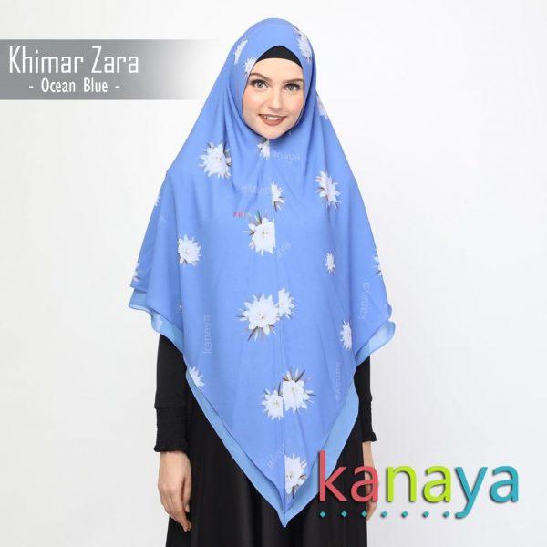kanaya khimar zara oceanblue-ahzanimuslimstore
