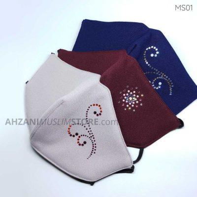masker-swarovski-MS01-ahzanimuslimstore