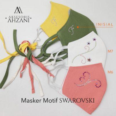 masker motif swarovski ahzanimuslimstore yogyakarta