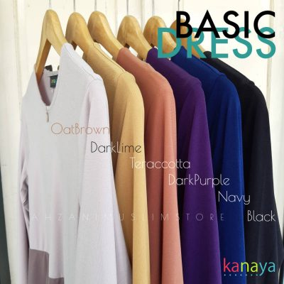 basic dress kanaya boutique ahzanimuslimstore